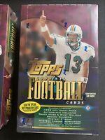 1999 Topps Football Hobby Box Factory Sealed 36 Packs-Refractor Chrome Auto Gold