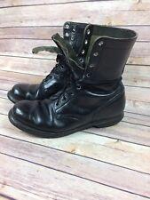 Vintage Men's Black Leather Military Combat Boots Size 10