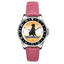 Giant Schnauzer Dog Fashion Unisex Mens Ladies Leather Band Wrist Watch