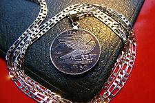 "DARK TONED 1941 PROUD ITALIA VICTORY WAR EAGLE Pendant on a 30"" 925 Silver Chain"