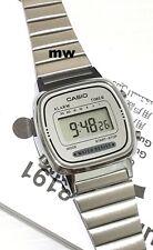 New Casio Ladies Digital Quartz Alarm Dress Watch Stainless Steel LA-670WA-7D