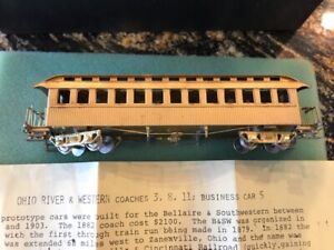 NWSL HOn3 SCALE OHIO RIVER & WESTERN BRASS PASSENGER Coach (#3, 8 & 11) MINT!