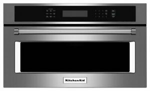 """KitchenAid 27"""" Built-In Microwave Stainless S W/ Convection Cooking KMBP107ESS"""