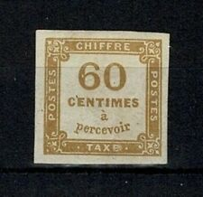 """FRANCE STAMP TIMBRE TAXE 8 """" CHIFFRE TAXE 60c JAUNE BISTRE"""" NEUFx TTB SIGNE V734"""