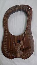 Lyre Harp Natural Rosewood 10 Strings Free Carrying Case,Lyre Harp,Harp,strings