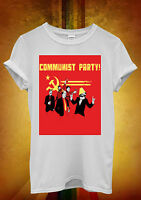 Communist Party Banksy Lenin Stalin Men Women Unisex T Shirt Tank Top Vest 686