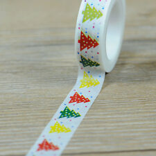 Christmas Tree Design 1.5cm×10M DIY Paper Sticky Adhesive Sticker Washi Tapes LU