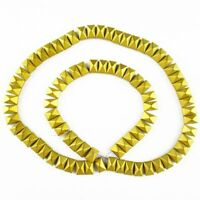 "8x5x5mm Faceted Matte Gold Hematite Oblong Loose Bead 15.5"" YJ318TS"