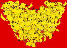 Pikachu Hearts 24 x 14 Custom Yugioh Playmat Mtg Play Mat Pokemon