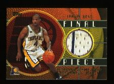 2000-01 Topps Final Piece Travis Best Game-Used NBA Finals Jersey #FP17 Pacers