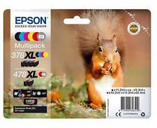 PACK TINTA EPSON 378XL + 478XL  COLORES ORIGINAL CARTUCHO IMPRESORA MULTIFUNCION