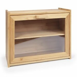 Dual-Shelf Bread Bin Storage,Cake & Pastries display case with visible drop-down