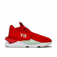 Y-3 Kaiwa Knit Trainers In Red Black- Lace Fastening- Primeknit Upper- Chunky