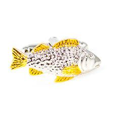 Fish Cufflinks 2 Tone Tank Fisherman Wedding Fancy Gift Box Free Ship USA
