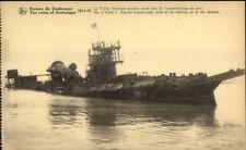 WWI Sinking Destroyed Ship Zeebrugge Belgium THETIS English Torpedo Boat PC