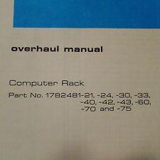 Sperry Computer Rack 1782481 Series Overhaul Manual