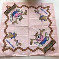 Rare Vintage Disney Splash Mountain Handkerchief Brer Bear Rabbit Fox
