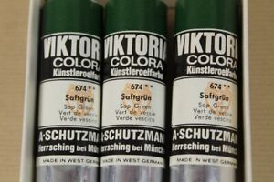 Viktoria Colora Artist Oil Color 3 Tubes Per 2oz No. 674 - Sap Green /163