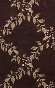 Transitional Floral Oriental Area Rug Hand-Tufted Wool Home Decor 3x5 NEW Carpet