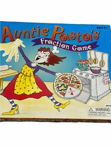 Game Board Auntie Pasta's Fraction Maths Educational School Skill Building Toy