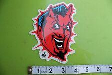 New listing Classic Devil Smile Satan Vince Ray Pop Art Surfing Skateboarding Racing Sticker