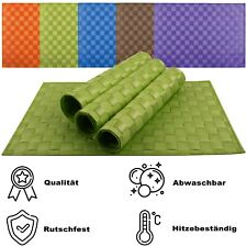 4er Platzsets Platzdeckchen Rutschfest Abwaschbar Tischmatten PVC Hitzebeständig