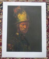 Van Rijn Rembrandt - Man With Helmet - Original Laminated Art Print