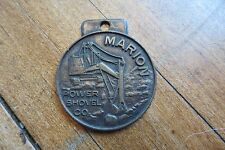 Old Marion Power Shovel Company watch fob, utilities, advertising, equipment