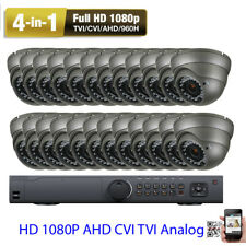 24Ch 5-in-One 2.6Mp 1080P Dvr 4-in-1 Ahd Tvi Cvi Security Camera System 3Tb 09J
