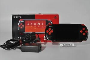 Good SONY PSPJ-30017 PSP 3000 Black Red Playstation portable 758808