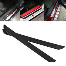 2 pcs Carbon Fiber Car Scuff Plate Door Sill Cover Panel Step Protector for Ford