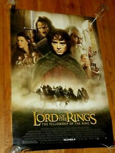 LORD OF THE RINGS: FELLOWSHIP OF THE RING 27x40 D/S Original Movie Poster 2001