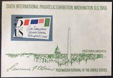 1966 5c SIPEX Commemorative Souvenir Sheet, Scott #1311, MNH, VF