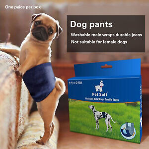 Male Dog Physiological Pants Pet Belly Wrap Band Washable Nappy Pants XS/S/M/L