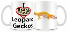 Me encanta Leopardo salamandras Taza Reptil Lagarto Personalizable