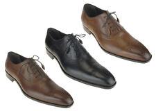 Mezlan Men's 16244 Burnished Leather Medallion Oxfords Dress Shoes