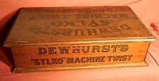 Dewhurst's Sylko Machine Cotton Reel Box Haberdashery Shop Display