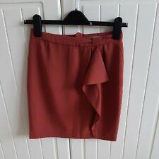 H&M Knee Length Burnt Orange colour adult Pencil Skirt Size xs/34