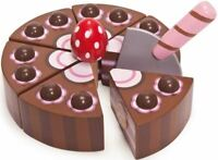 Le Toy Van HONEYBAKE CHOCOLATE GATEAU Wooden Play Food Cafe Afternoon Tea BN