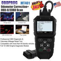 OBDPROG MT401 Odometer Correction Mileage Adjustment Auto OBDII Diagnostic Tool