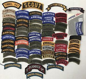 Vietnam Modern US Army Patch Tab Airborne Ranger Recondo Sapper Special Forces