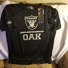 OAKLAND RAIDERS PERFORMANCE SHIRT - YOUTH LARGE - UNDER ARMOUR - NFL COMBINE...