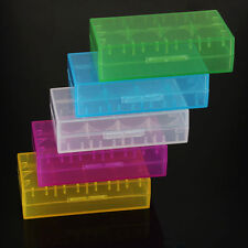 5X18650 CR123A 16340 Hard Plastic Transparent Battery Case Box Holder Storage HY