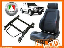 AUTOTECNICA ADVENTURER SEAT LEATHER BLACK LANDCRUISER 100 1998-07 RIGHT ADAPTOR