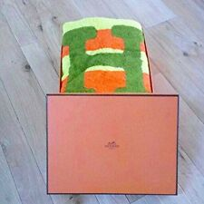 Hermes Beach Bath Towel Mat Cotton 100% Interior Ornament H Logo Auth New Rare