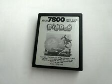 Atari 7800 Dig Dug Tested & Working