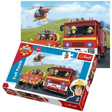 Trefl 30 Piece Kids Fireman Sam Rescue Engine Helicopter  Penny Jigsaw Puzzle