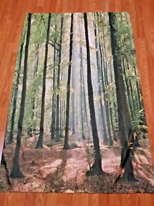 Farmhouse Tapestry Forest Trees Morning Print Wall Hanging Decor