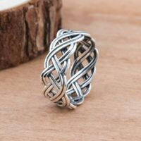 Simple Fashion Women Men's Silver Wedding Proposal Jewelry Ring Punk Finger Retr