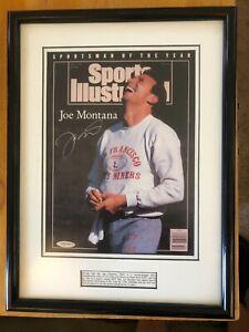 Joe Montana Autographed Sports Illustrated 49ers Photo Framed Signed UDN 1990